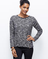 Tweed Zip Sweatshirt