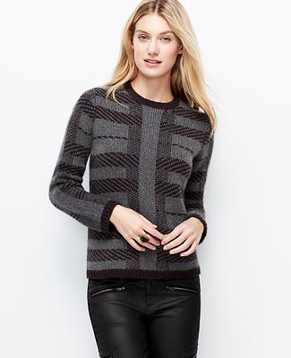 Petite Winter Stripe Pullover