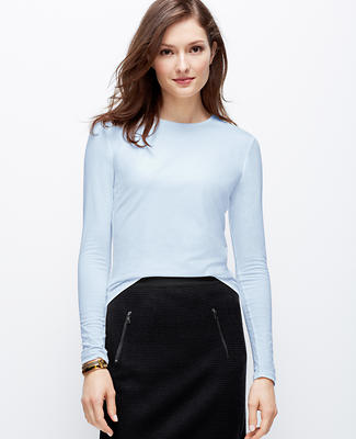 Jewel Neck Long Sleeve Tee