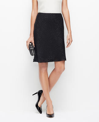 Beaded Chiffon Pencil Skirt