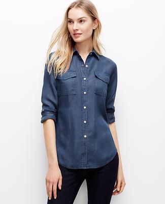 Snap Chambray Shirt