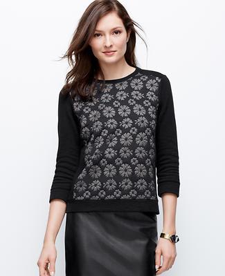 Floral Jacquard Sweatshirt