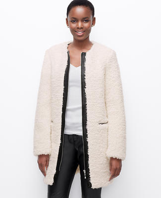 Edged Boucle Coat