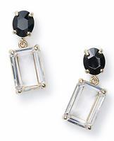 Rectangle Stone Dangle Earrings