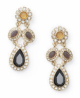 Tricolor Stone Drop Earrings