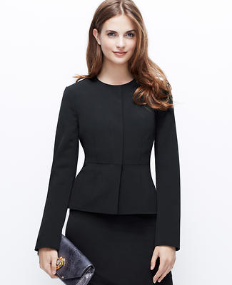 Triacetate Peplum Jacket