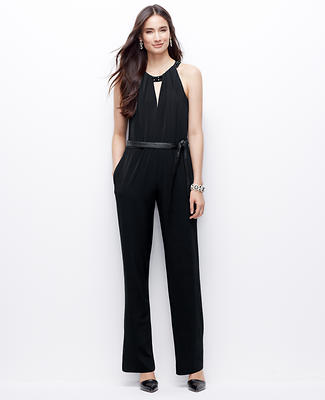 Embellished Satin Jersey Jumpsuit