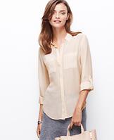 Striped Silk Camp Shirt