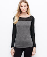 Colorblock Sweater Jersey Top