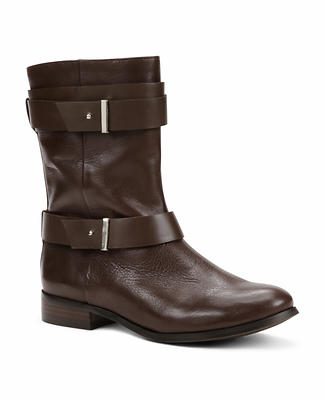 Brycen Leather Buckle Boots