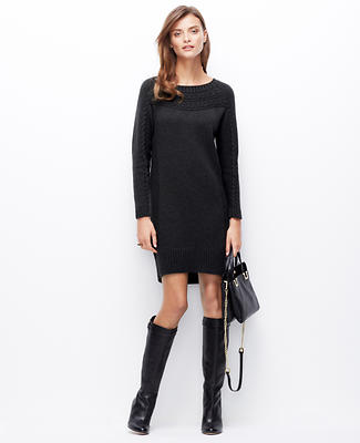 Boatneck Cable Sweater Dress