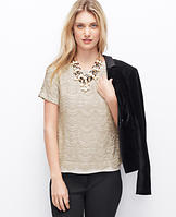 Champagne Lace Tee