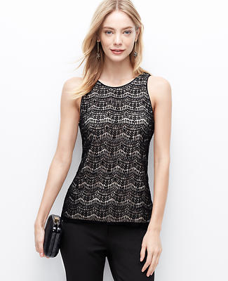Lace Embellished Shell