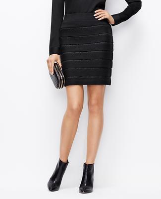 Tall Lace Stripe Sweater Skirt