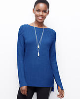 Cable Hi-Lo Hem Sweater
