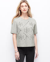 Cropped Snowflake Sweater