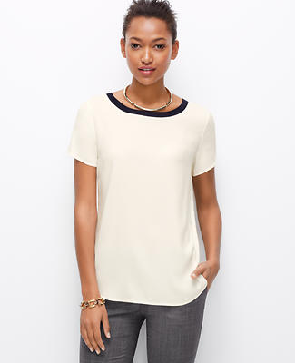 Colorblock Crepe Tee