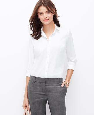 Mixed Media Button Down Shirt