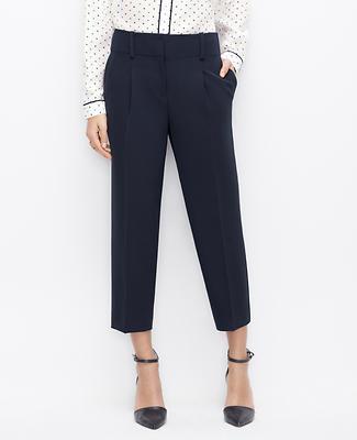 Petite Crepe Cropped Pants