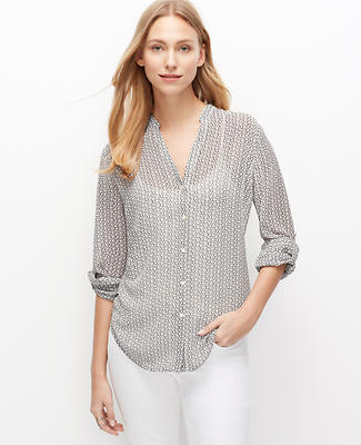 Bubble Dot Sheer Blouse