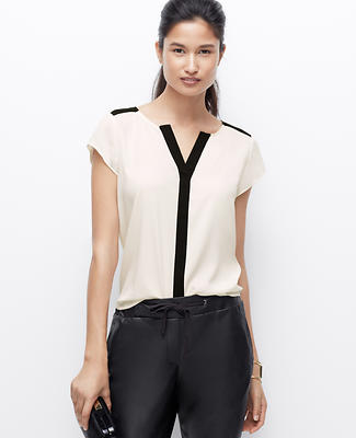 Crepe Colorblock Top