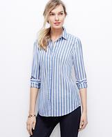 Striped Chambray Perfect Shirt