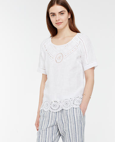 Image of Linen Cutout Tee