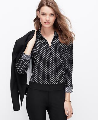Crepe Floral Dot Shirt