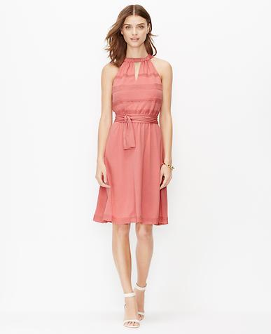 Image of Crochet Trim Halter Dress