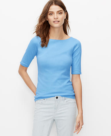 Image of Cotton Boatneck Tee