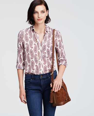 Image of Paisley Silk Blouse