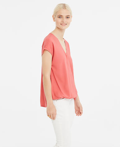 Image of Crepe Wrap Top