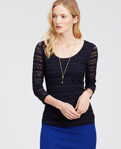 Image of 3/4 Sleeve Lace Top