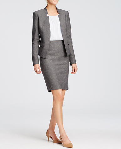 Image of Refined Tweed Pencil Skirt