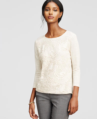Image of Lacy Linen Top