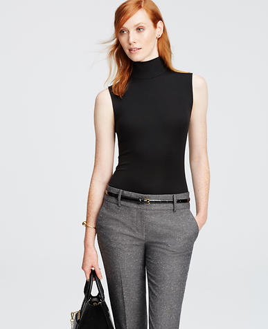 Image of Sleeveless Ribbed Turtleneck
