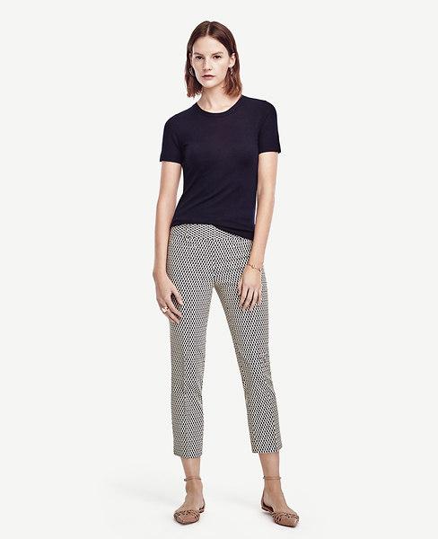 Ann Taylor Petite Devin Jacquard Cropped Pants