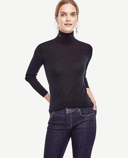 Extrafine Merino Wool Turtleneck Sweater