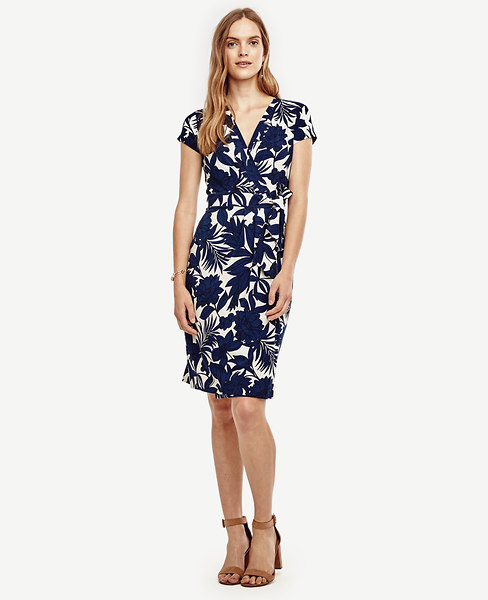 Ann Taylor Tropic Wrap Dress