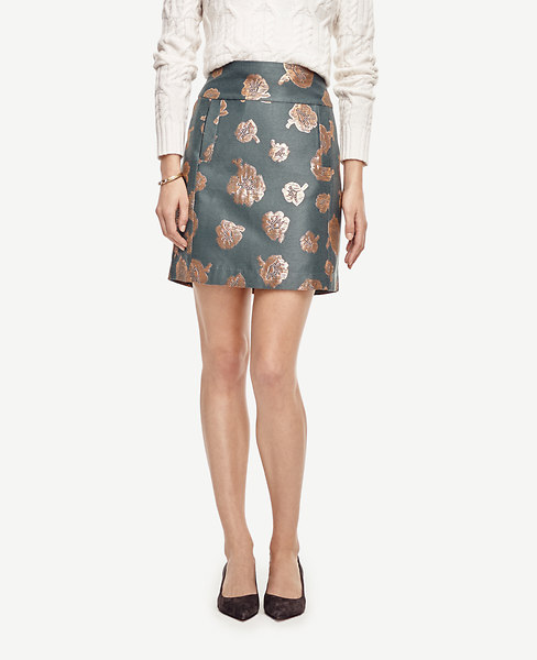 Gilded Floral Skirt