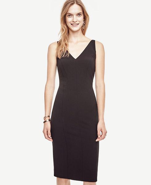 Ann Taylor Triacetate Seamed Sheath Dress