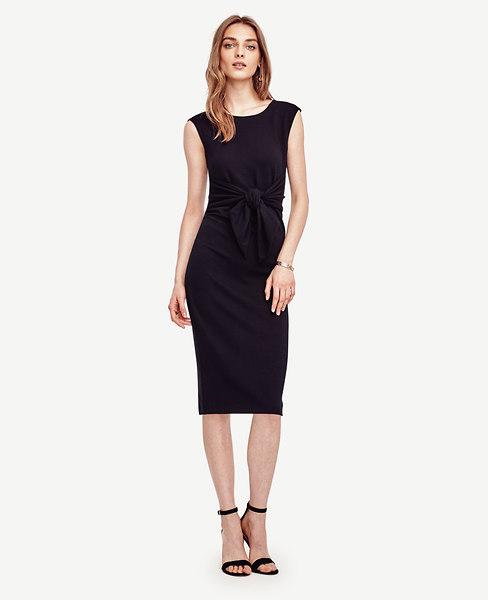 Tie Front Sheath Dress