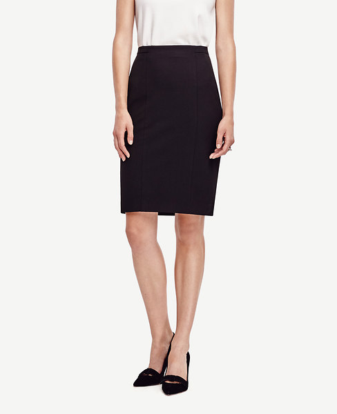 All-Season Stretch Seamed Pencil Skirt