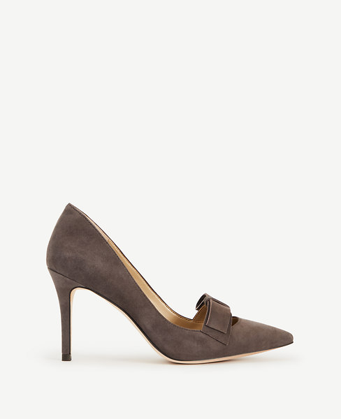 Odette Suede Bow Pumps