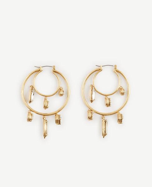 Mixed Jewel Hoop Earrings