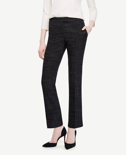 Crosshatch Tweed Ankle Pants