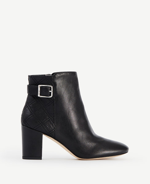 Ann Taylor Serena Quilted Leather Booties