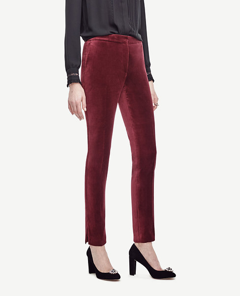 Velvet Ankle Pants