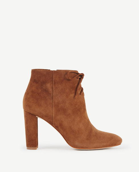 Ophelia Suede Lace Up Booties