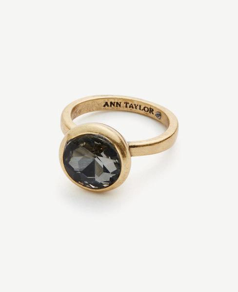 Ann Taylor Crystal Bezel Ring